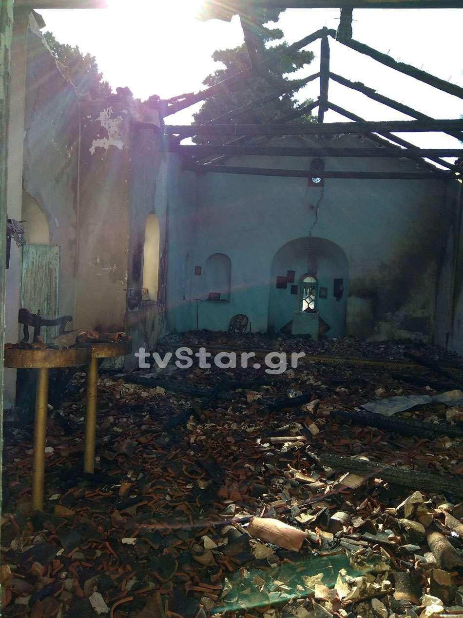 ΜΑΡΤΙΝΟ: Καταστράφηκε από φωτιά ο Ναός του Αγίου Σεραφείμ
